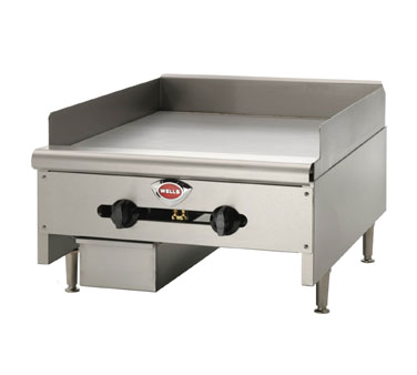 Wells HDG-2430G griddle, gas, countertop