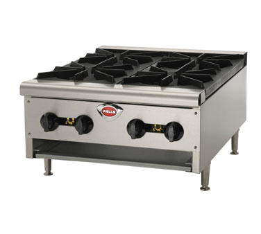 Wells HDHP-3630G hotplate, countertop, gas
