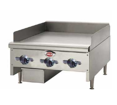 Wells HDTG-2430G griddle, gas, countertop