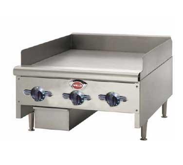 Wells HDTG-3630G griddle, gas, countertop