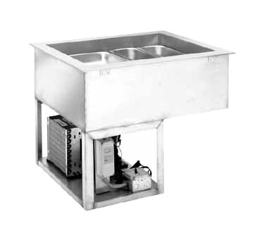 Wells RCP-7500 cold food well unit, drop-in, refrigerated
