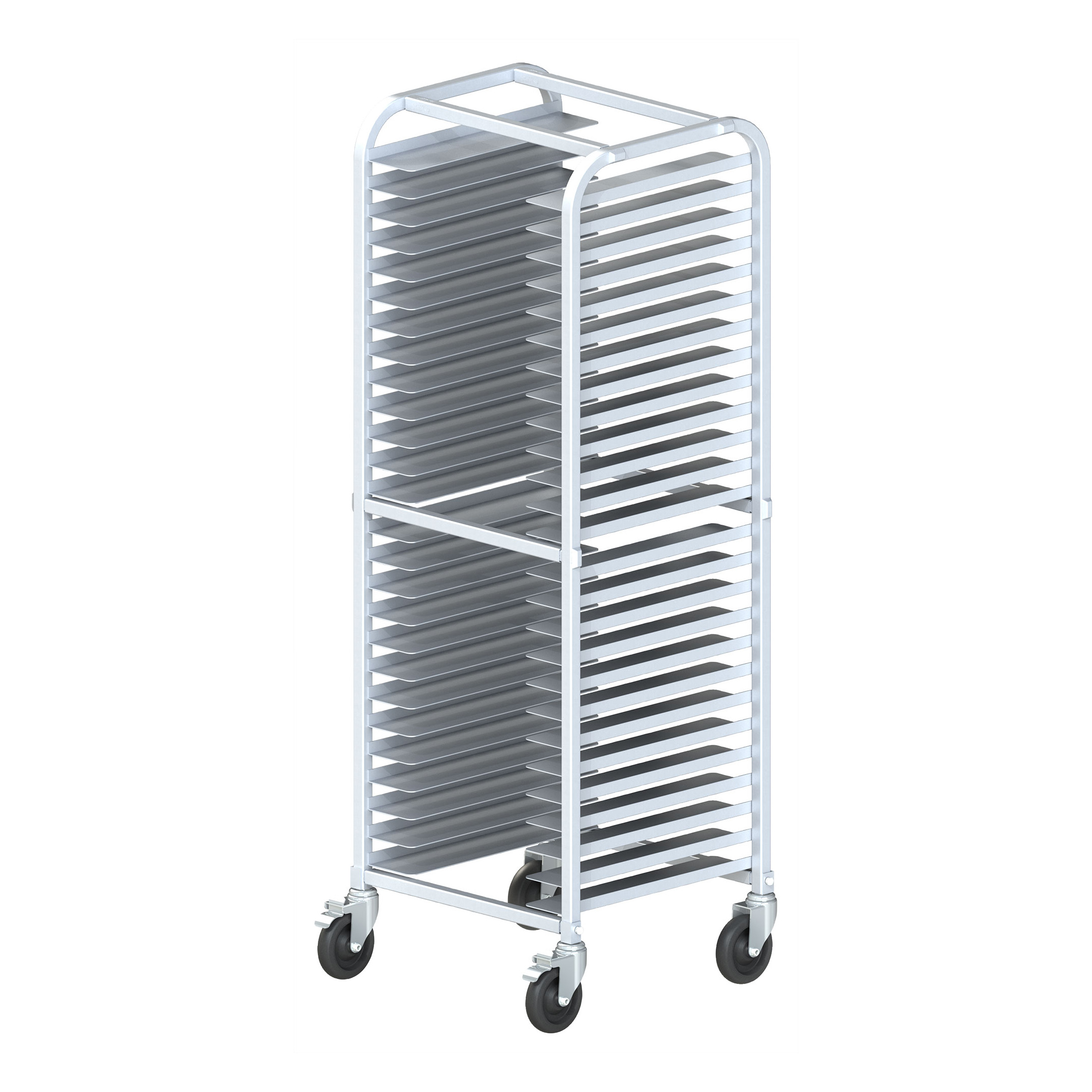 Winco ALPR-26BK pan rack, pizza