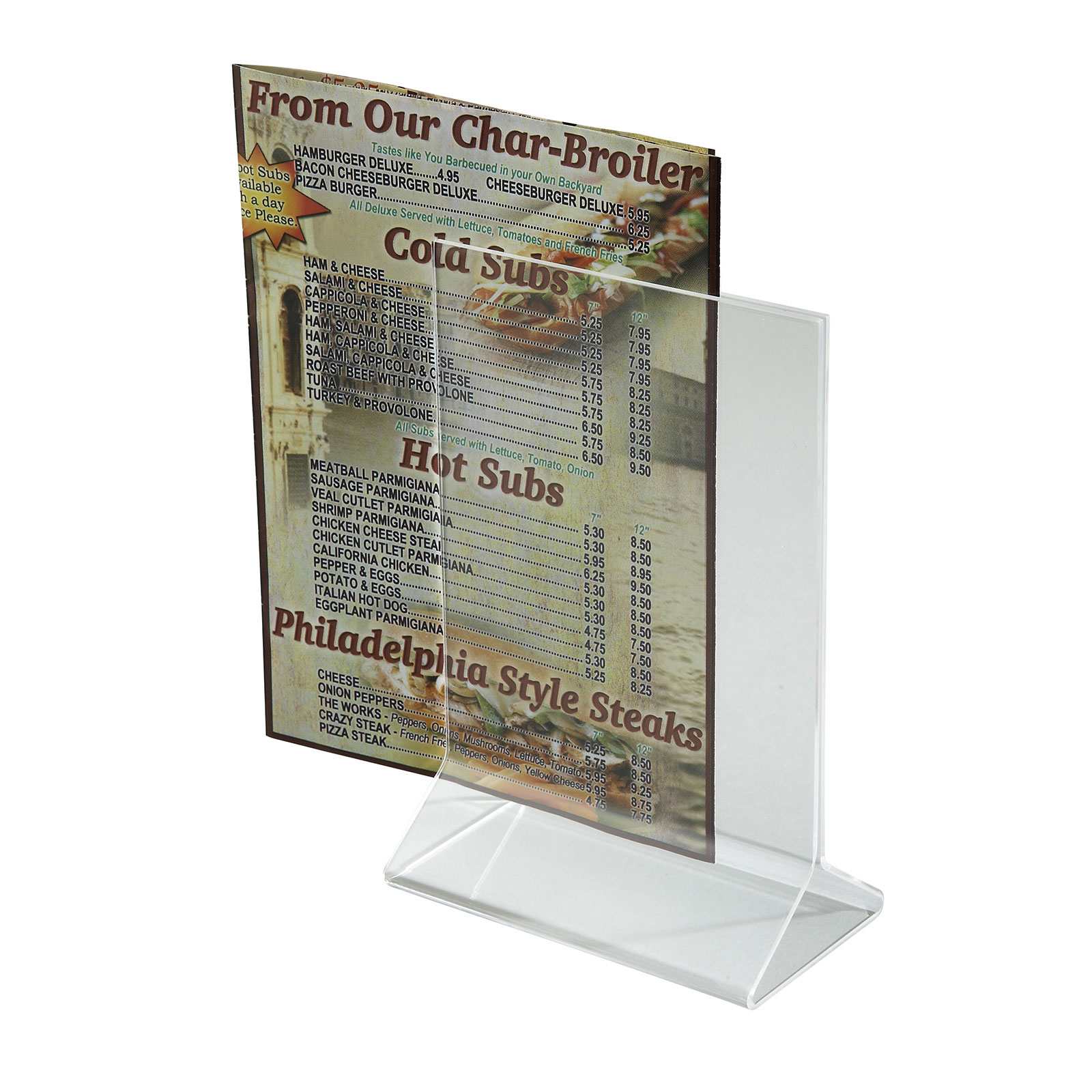 Winco ATCH-46 menu card holder / number stand