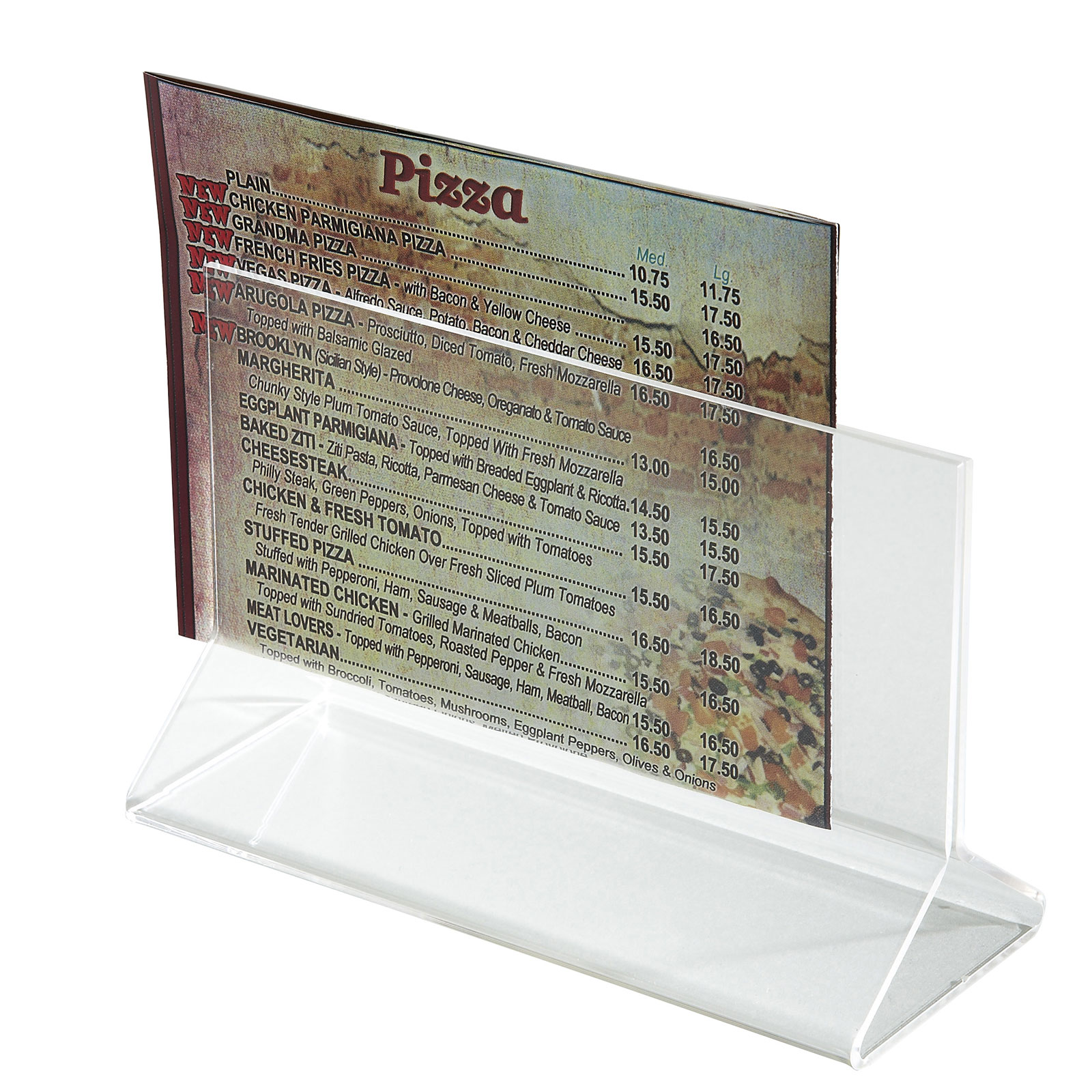 Winco ATCH-53 menu card holder / number stand