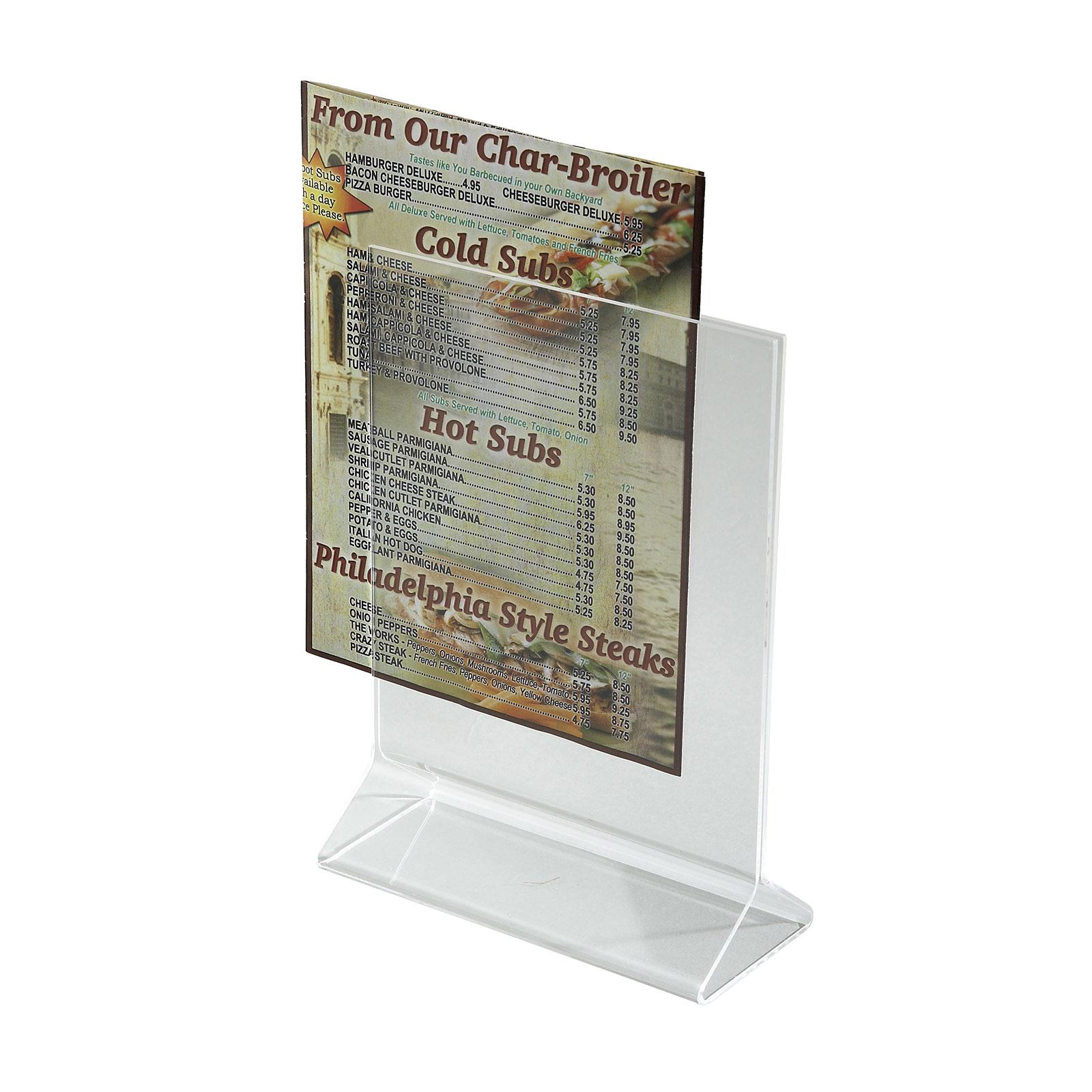 Winco ATCH-57 menu card holder / number stand