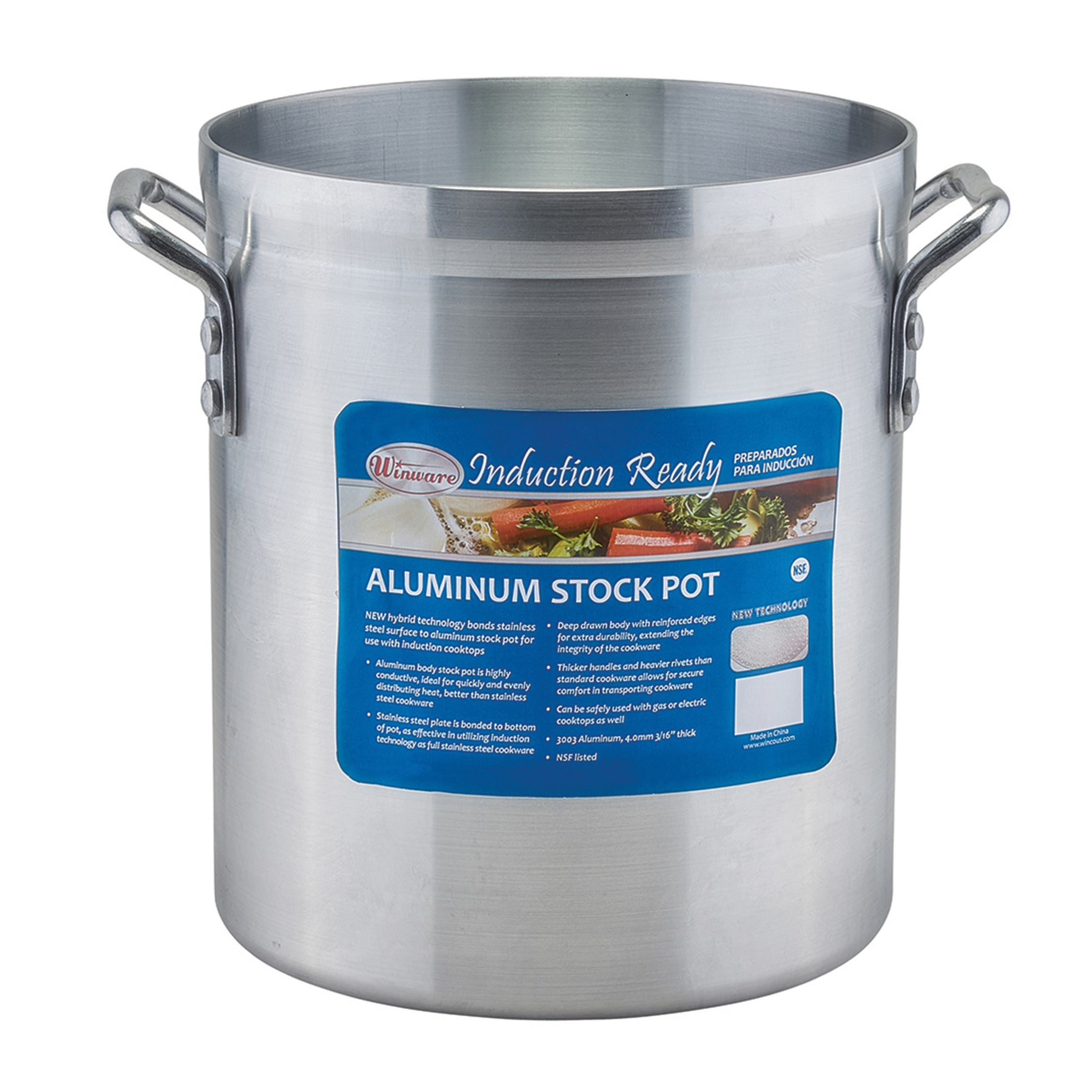 Winco AXSI-8 stock pot