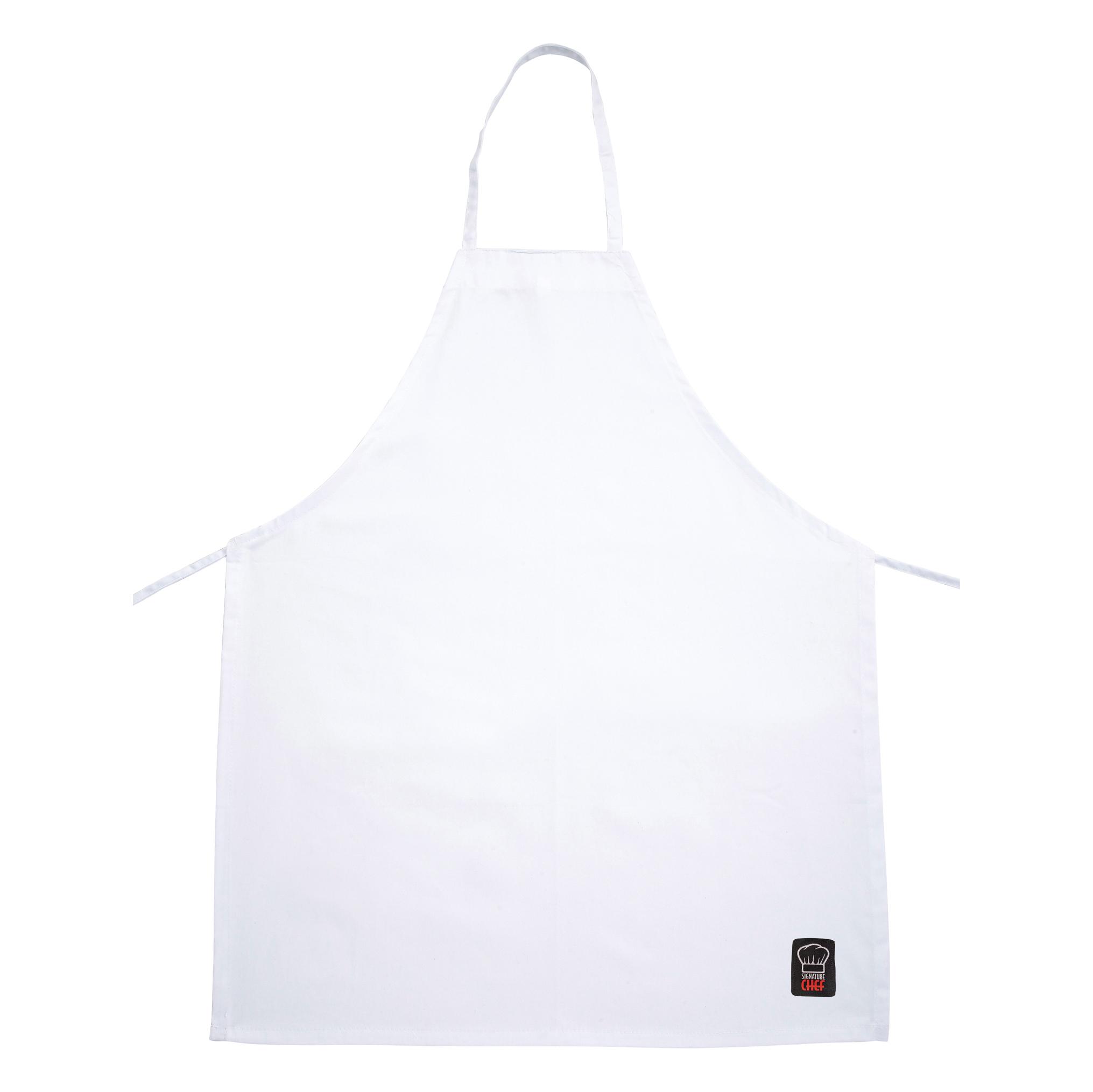 Winco BA-3226WH bib apron