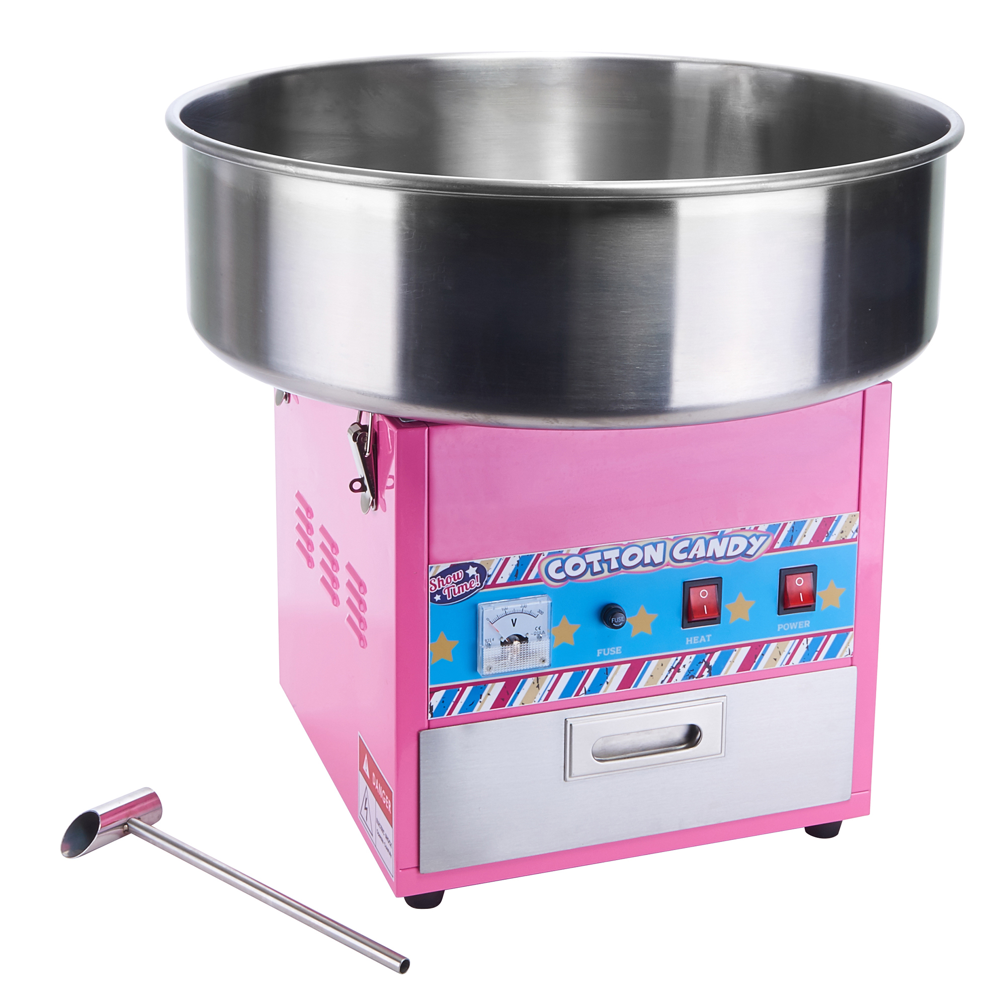 Winco CCM-28 cotton candy machine & display