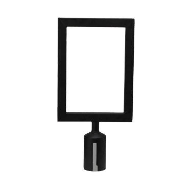 Winco CGSF-12K crowd control stanchion sign / frame
