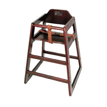 Winco CHH-103 high chair, wood