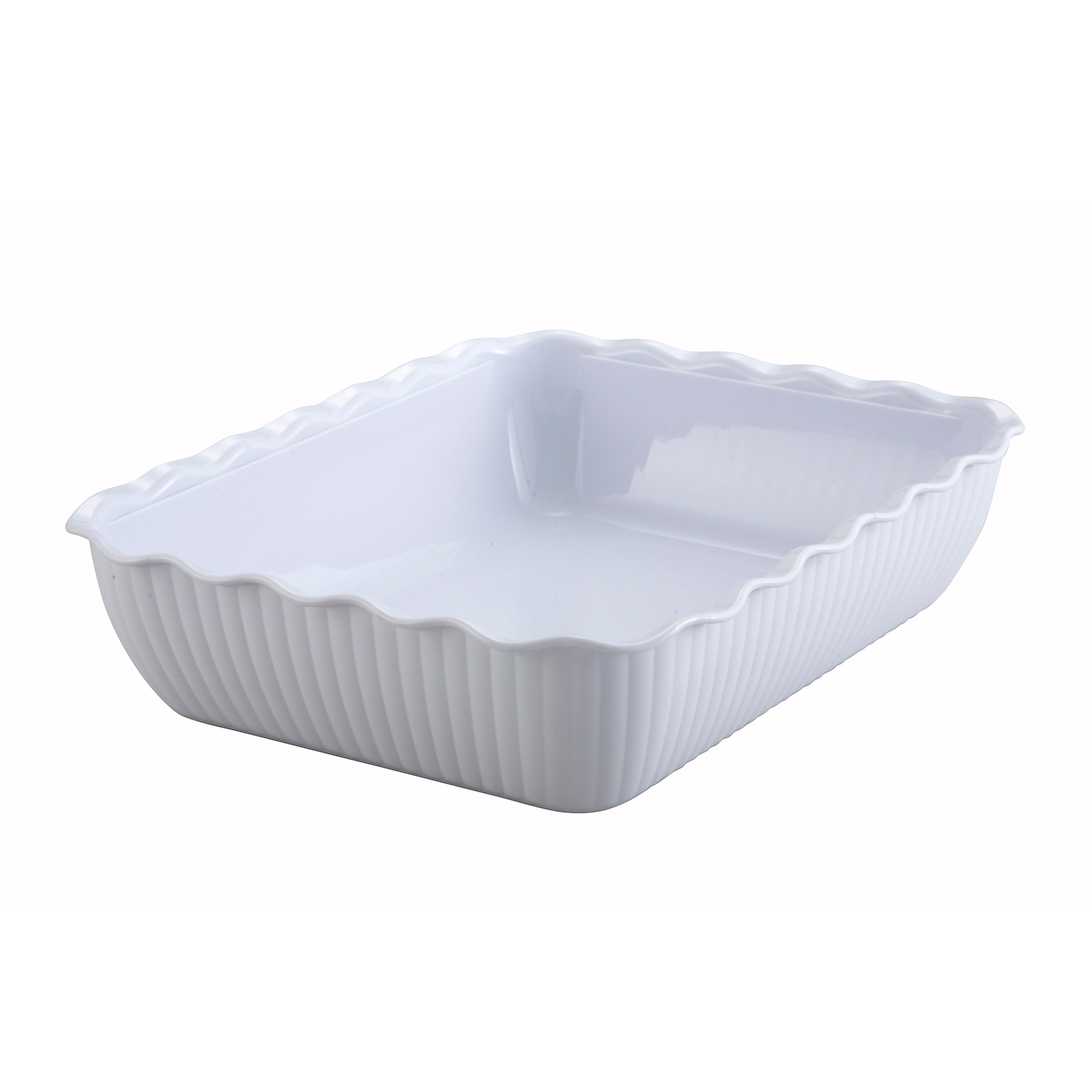 Winco CRK-13W salad crock, plastic