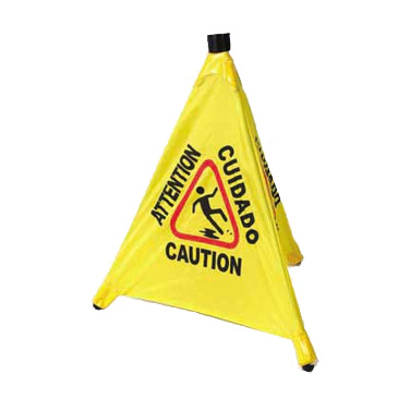 Winco CSF-4 sign, wet floor
