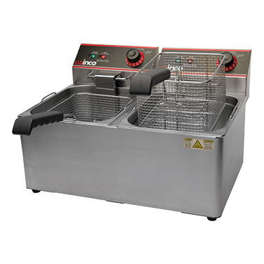 Winco EFT-32 fryer, electric, countertop, split pot
