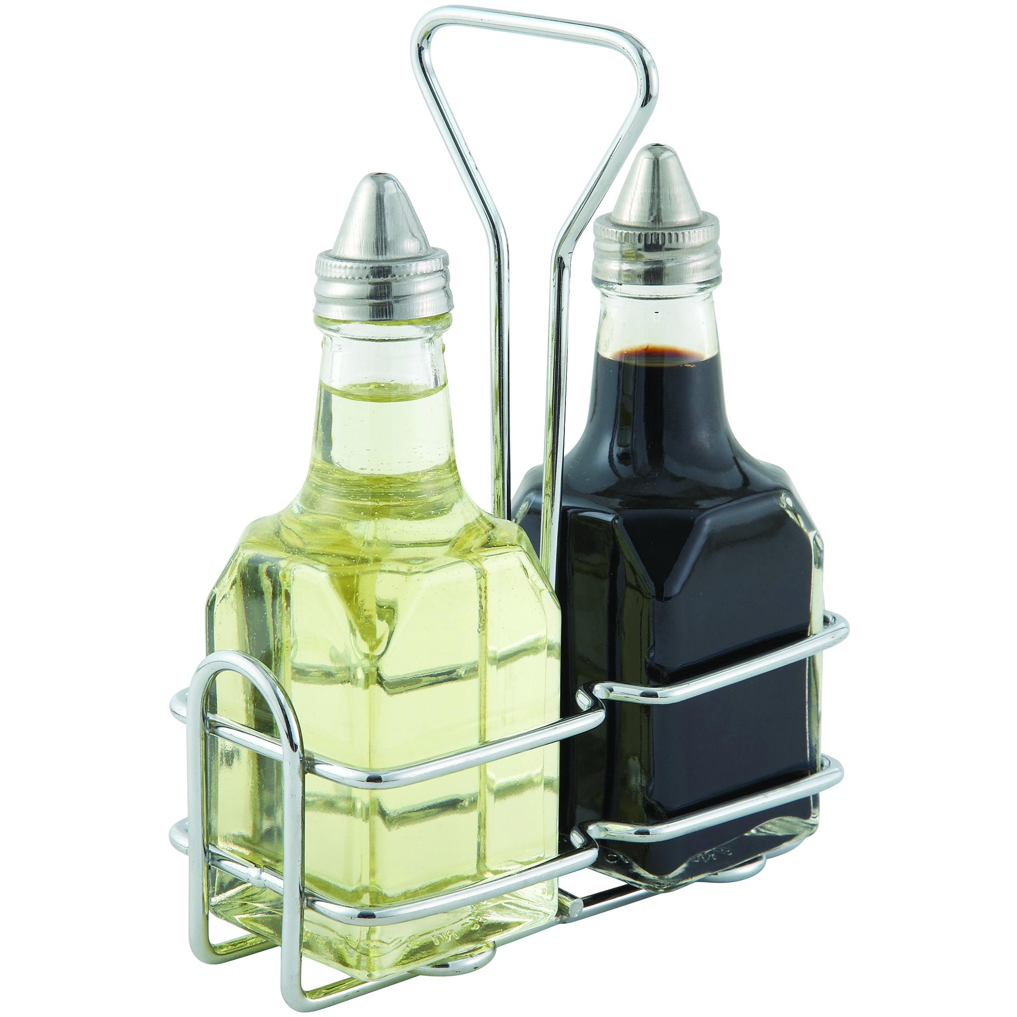 Winco G-104S oil & vinegar cruet set
