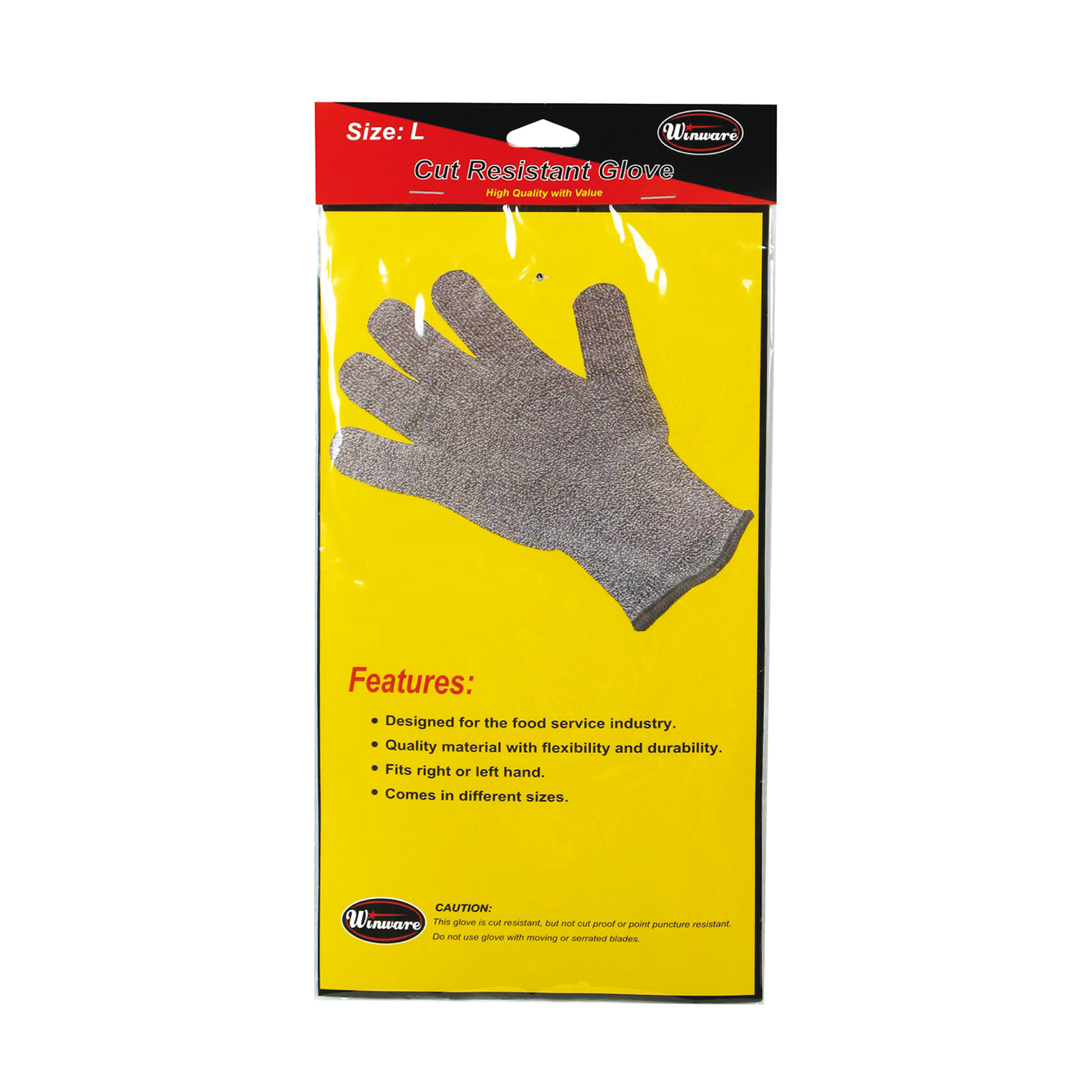Winco GCR-L glove, cut resistant
