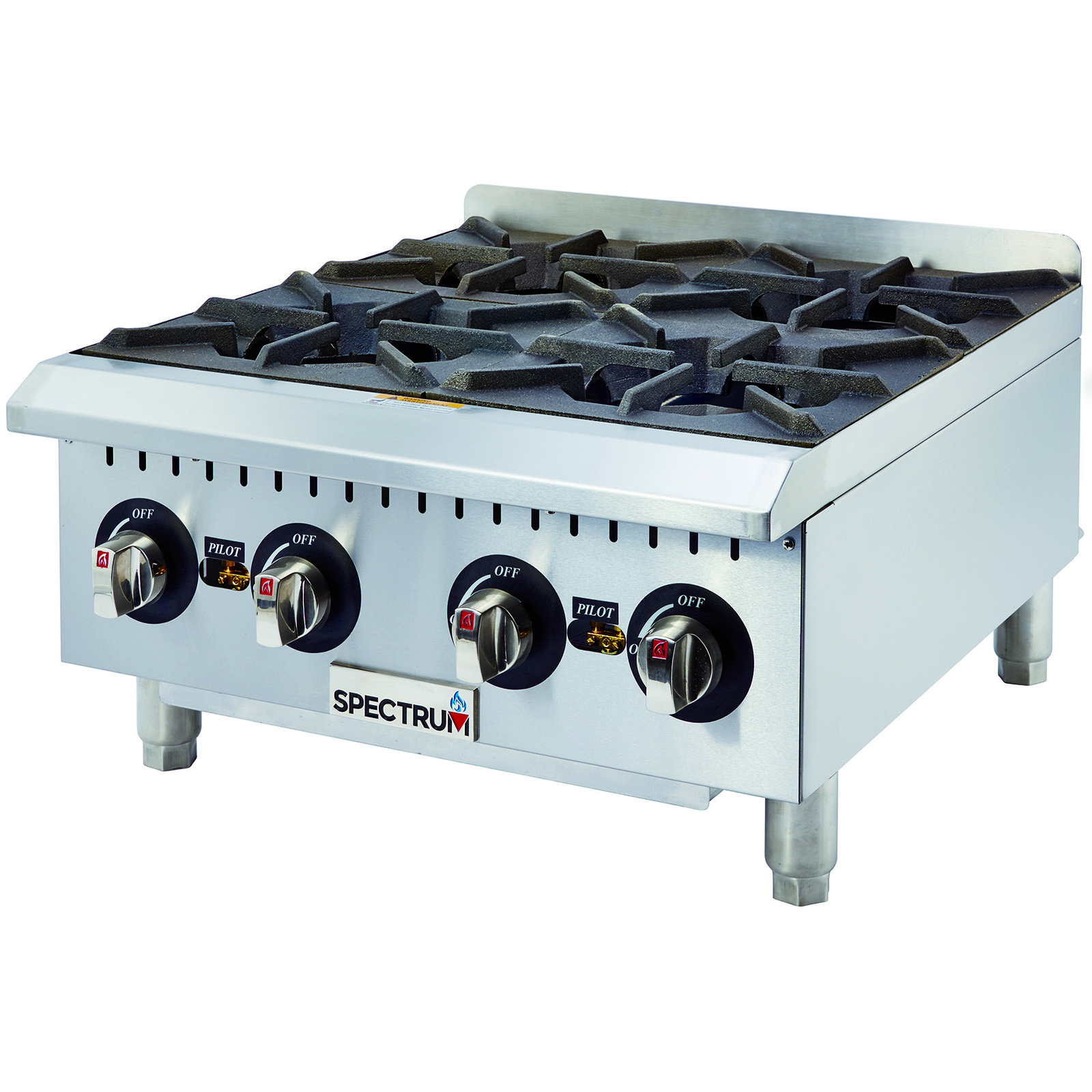 Winco GHP-4 hotplate, countertop, gas