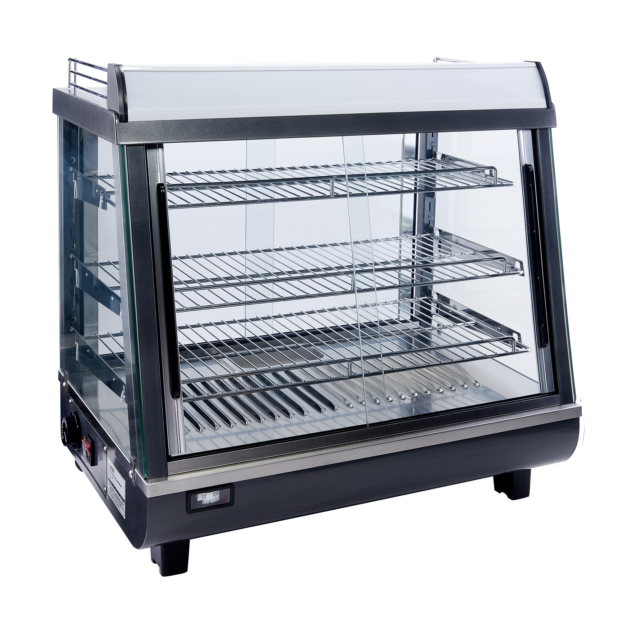 Winco HDM-26 display case, hot food, countertop