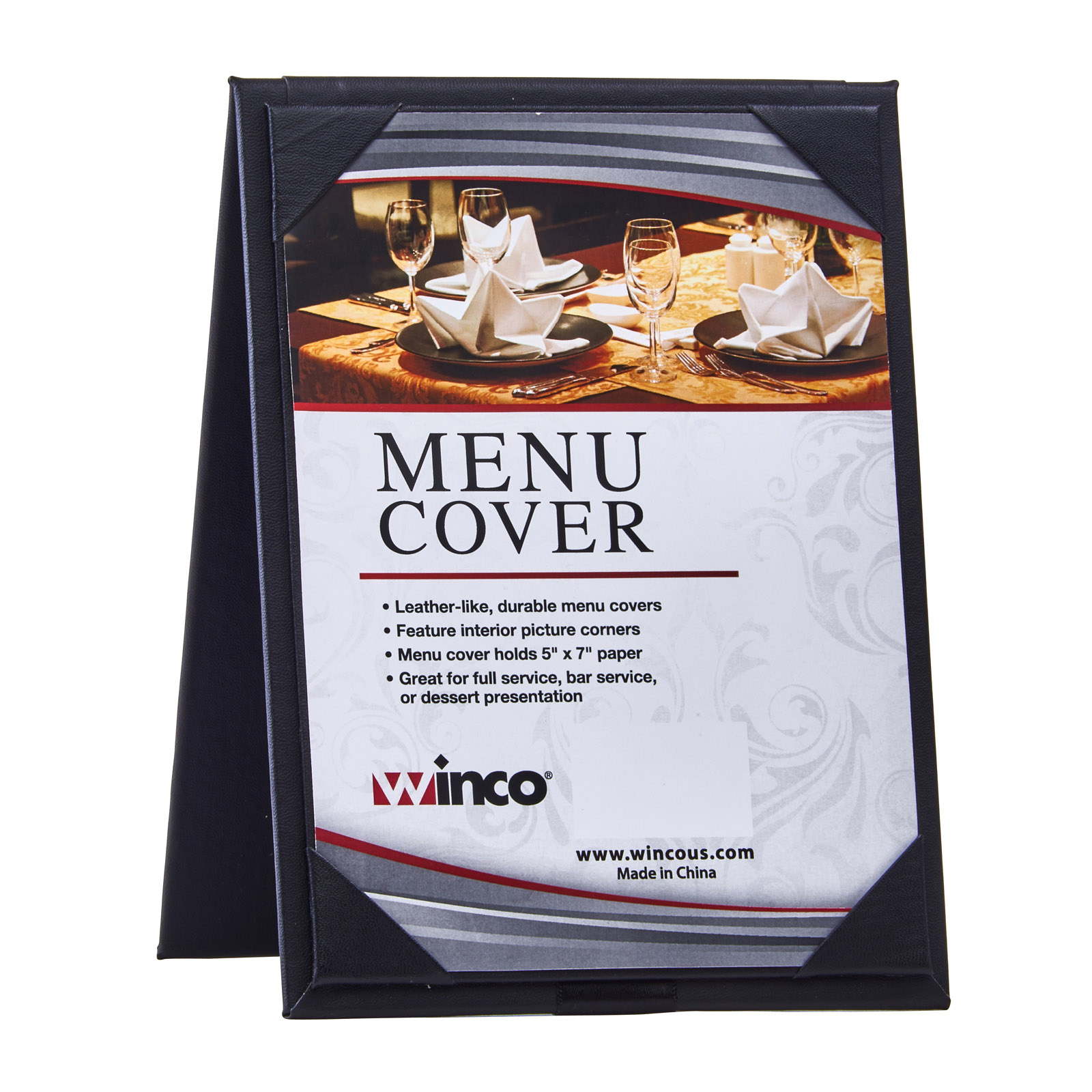 Winco LMTD-57BK tabletop sign, tent / menu