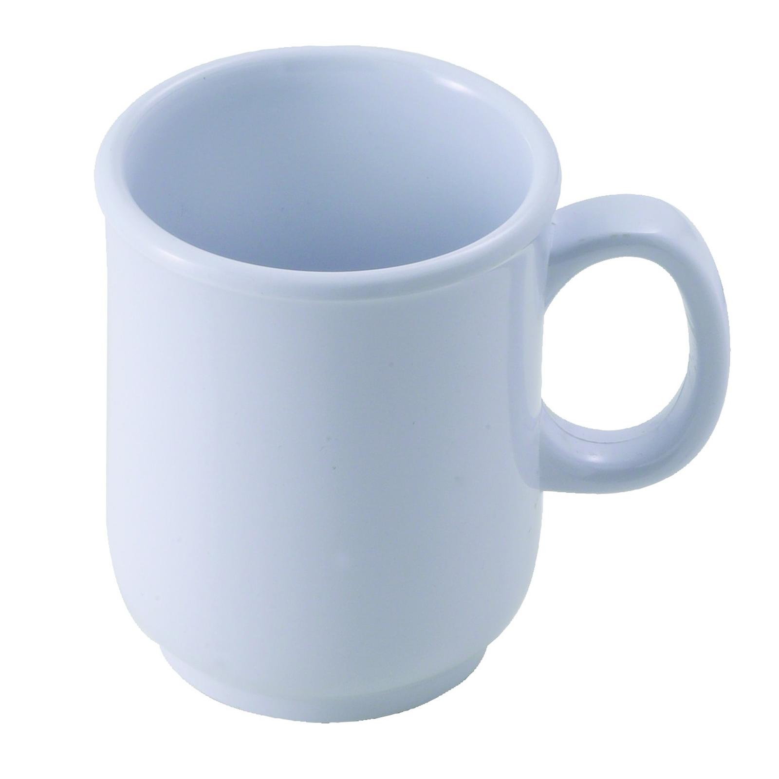 Winco MMU-8W mug, plastic