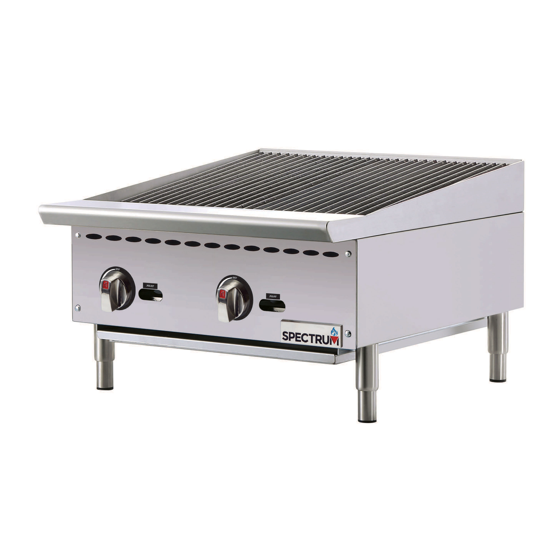 Winco NGCB-24R charbroiler, gas, countertop