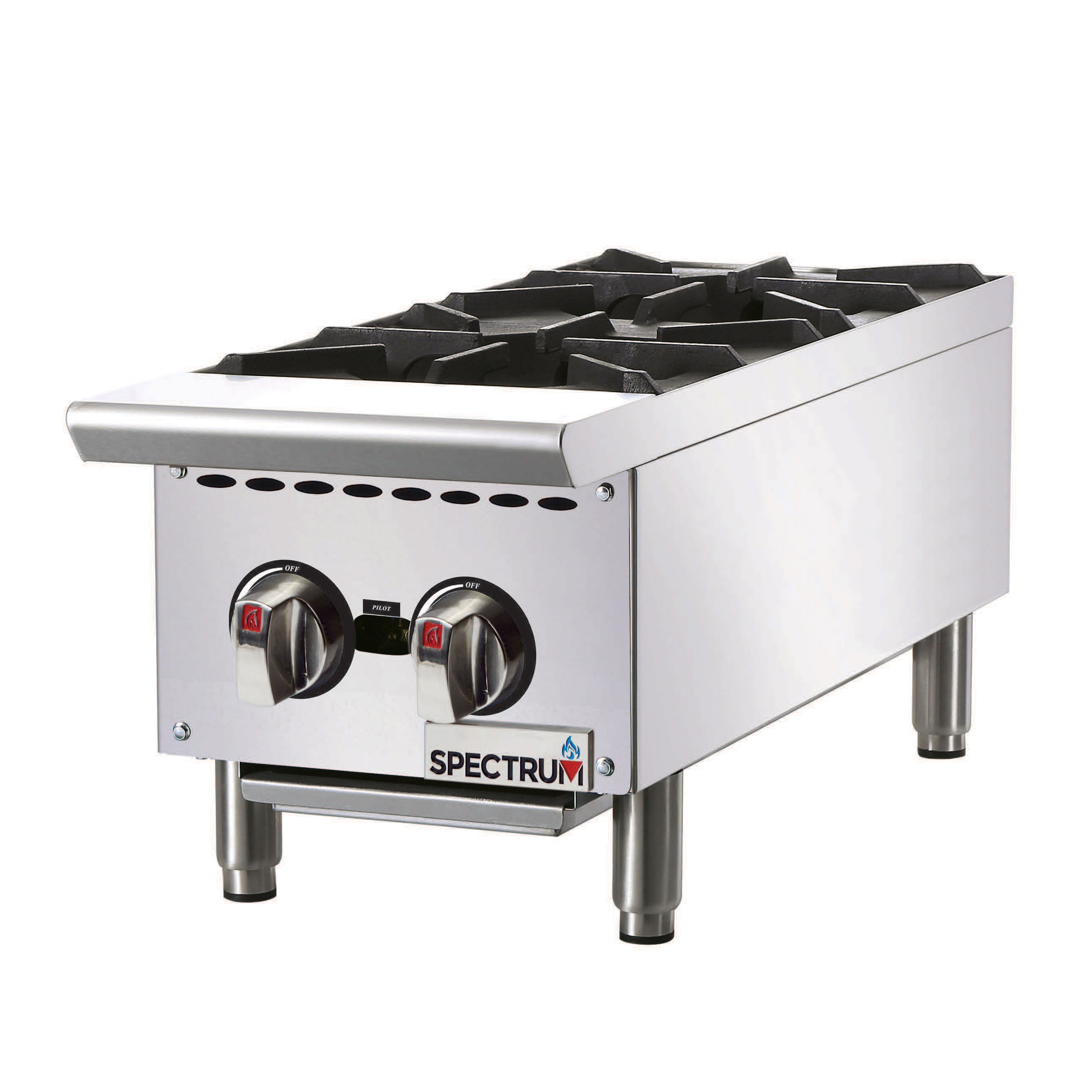 Winco NGHP-2 hotplate, countertop, gas