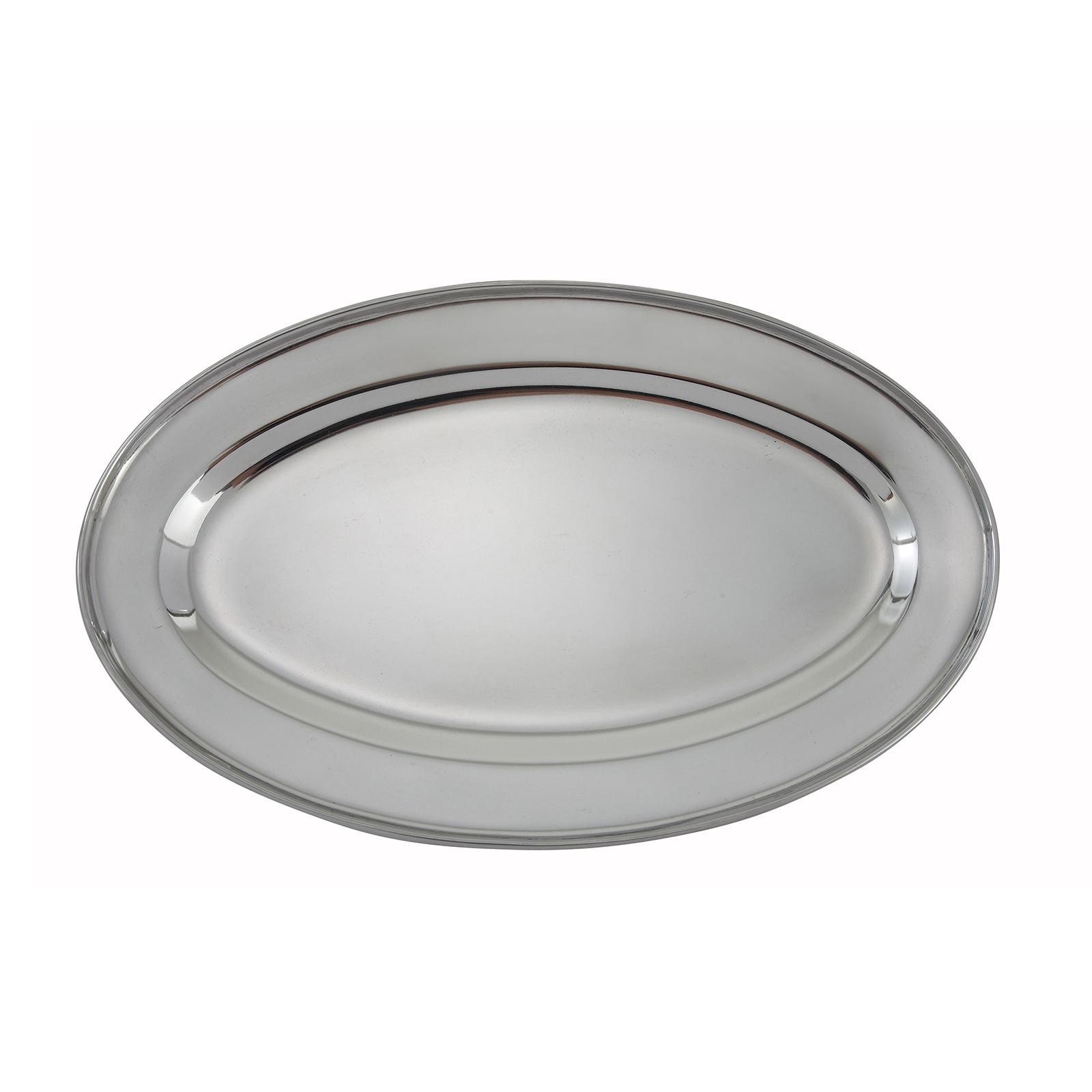 Winco OPL-12 platter, stainless steel