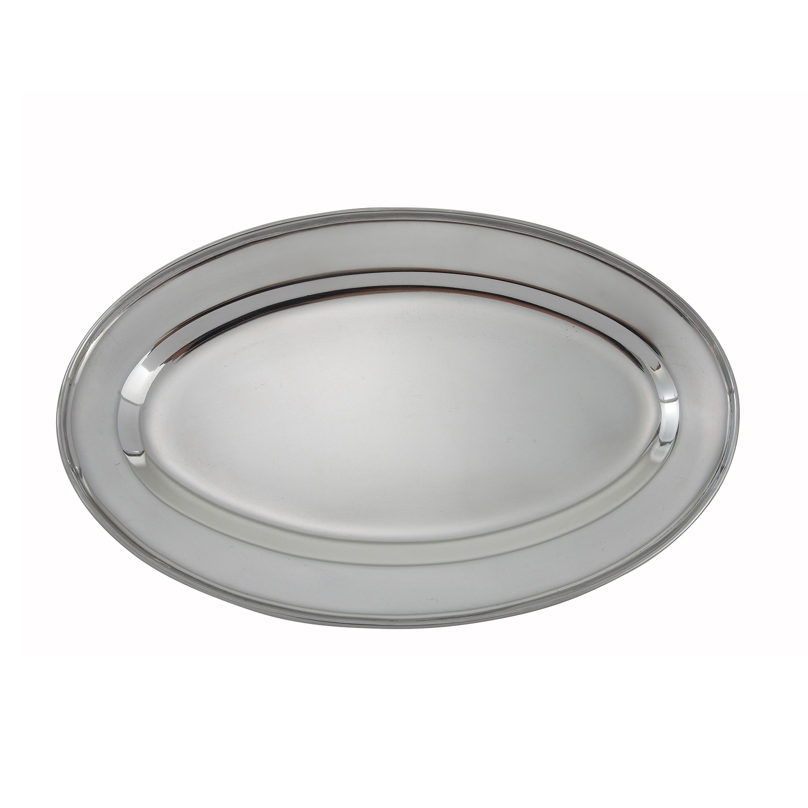 Winco OPL-14 platter, stainless steel