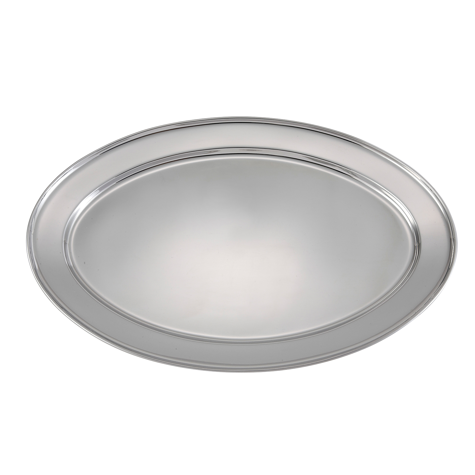 Winco OPL-22 platter, stainless steel