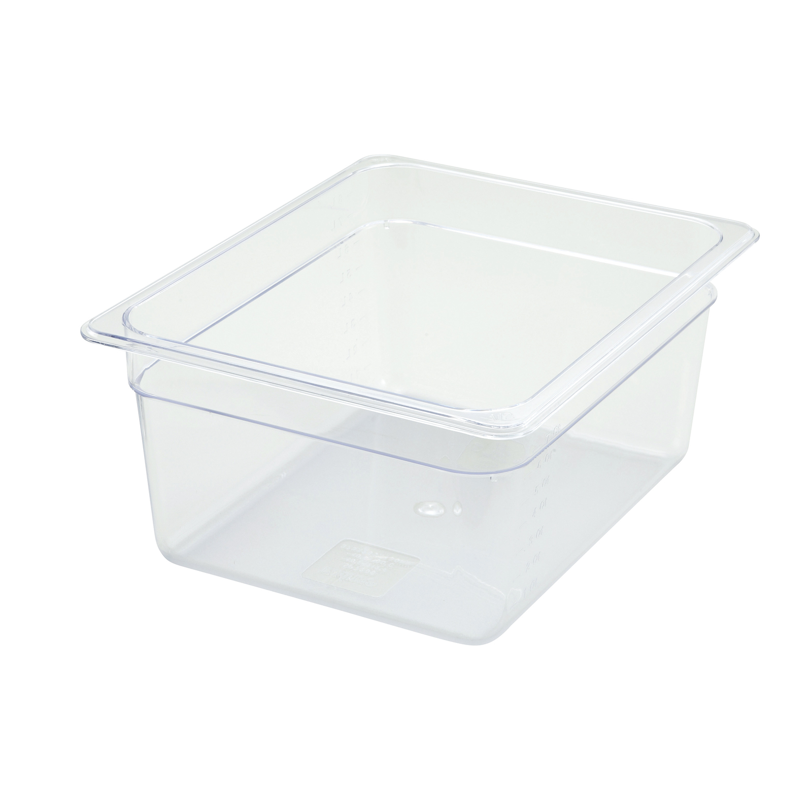 2410-019 Winco SP7206 food pan, 1/2size 6in D, plastic