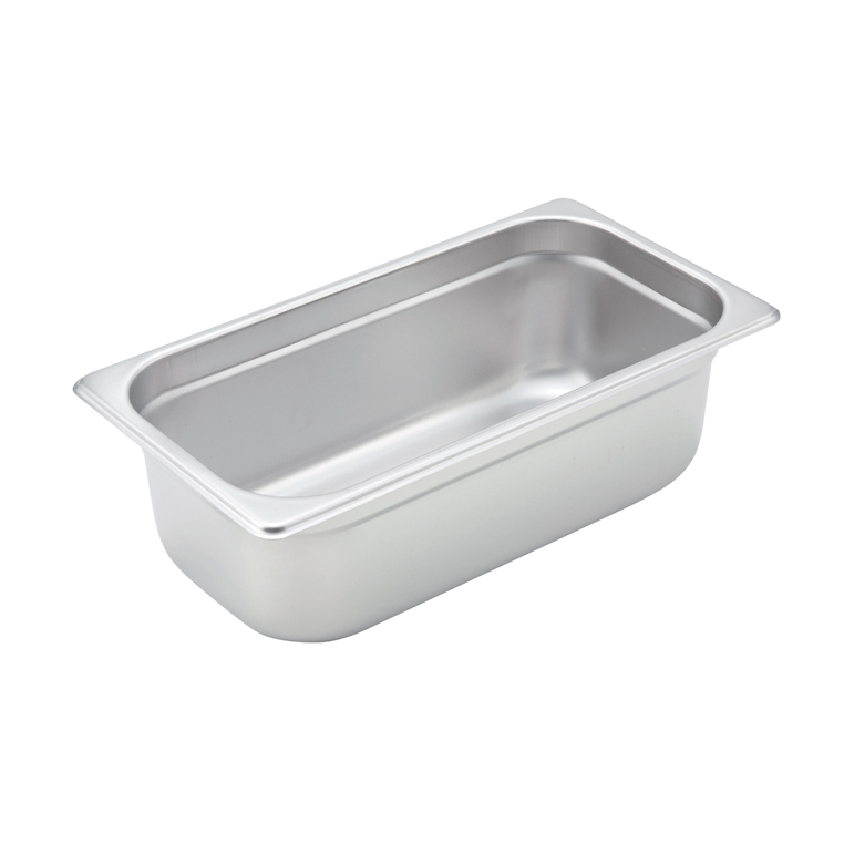 Winco SPJM-304 steam table pan, stainless steel