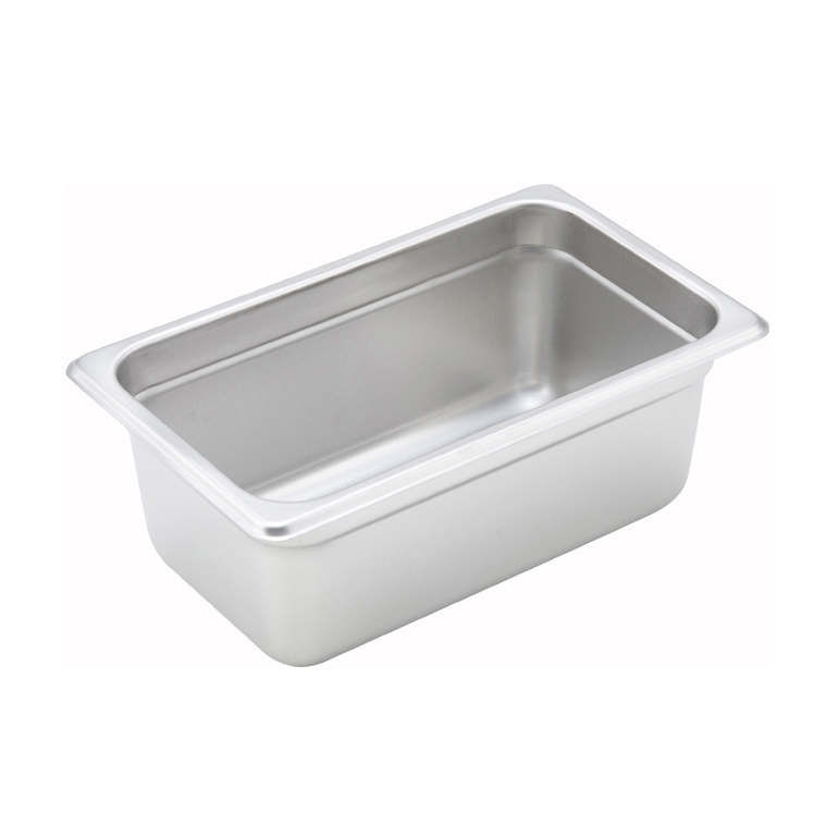 Winco SPJM-404 steam table pan, stainless steel