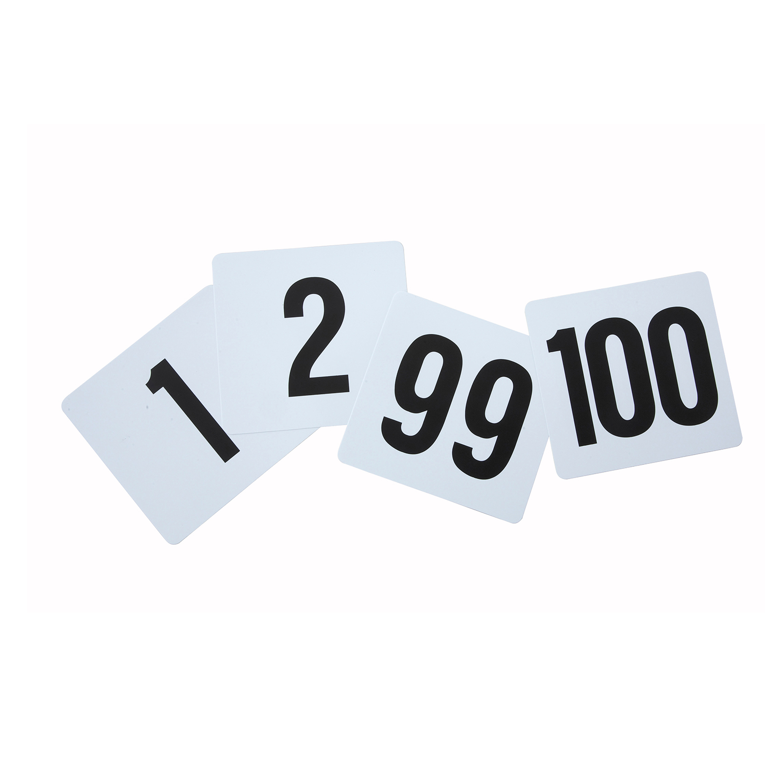 3107-47 Winco TBN-100 table numbers cards