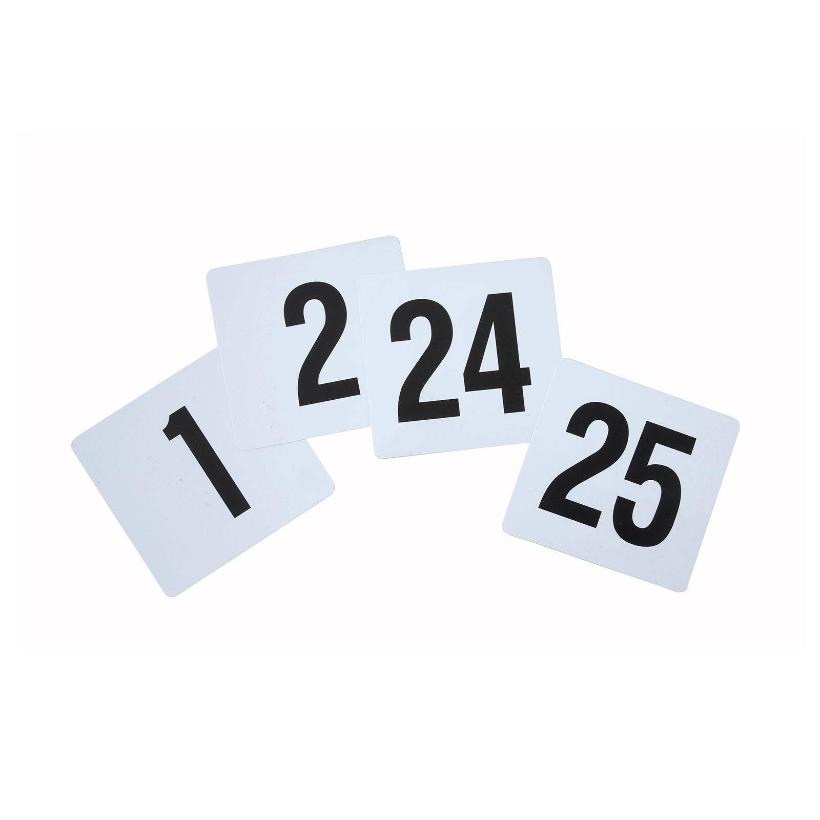 3107-45 Winco TBN-25 table numbers cards