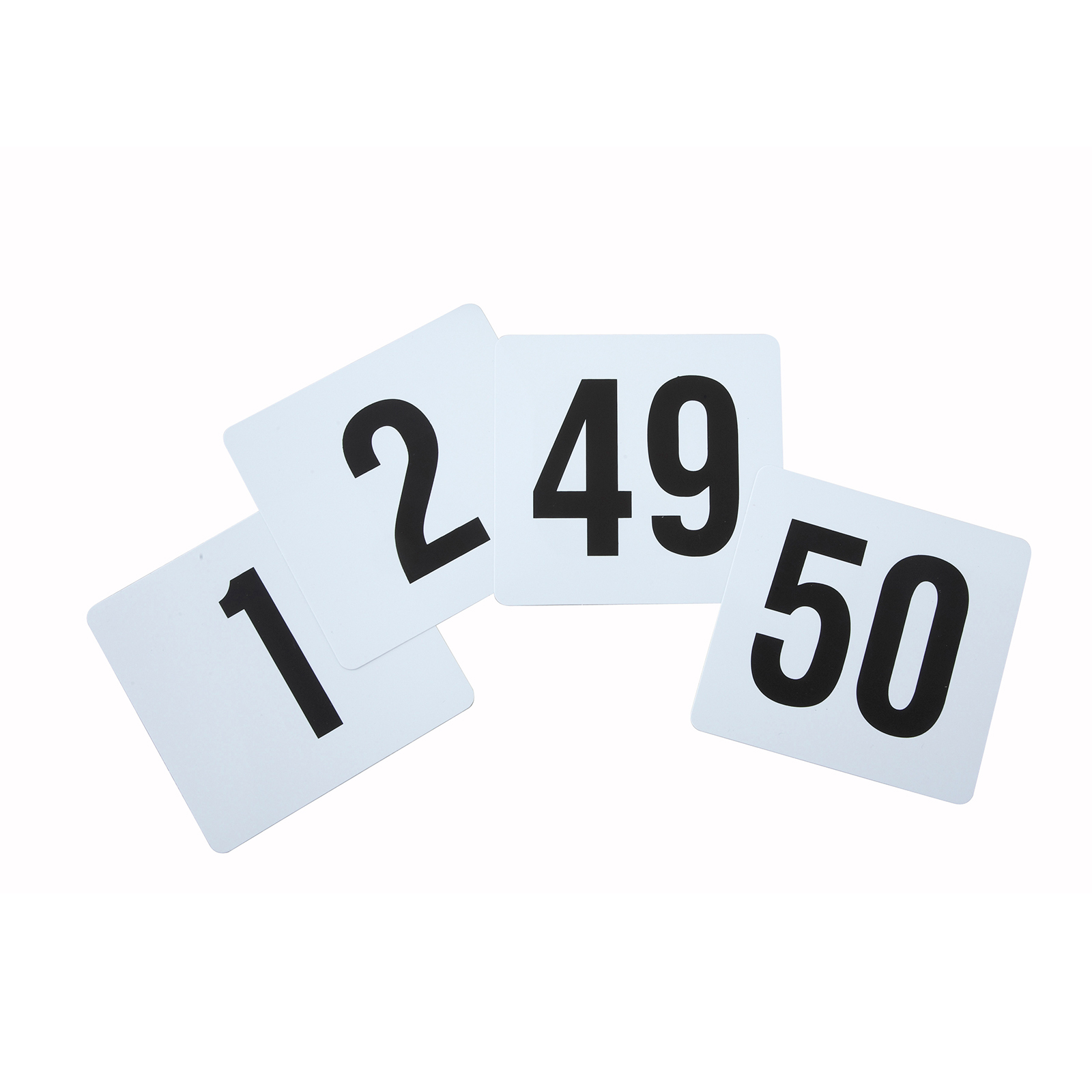 Winco TBN-50 table numbers cards