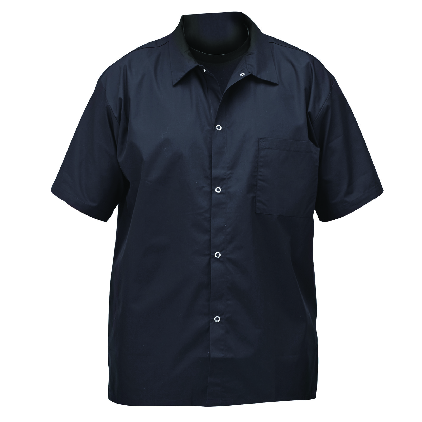 Winco UNF-1KL cook's shirt