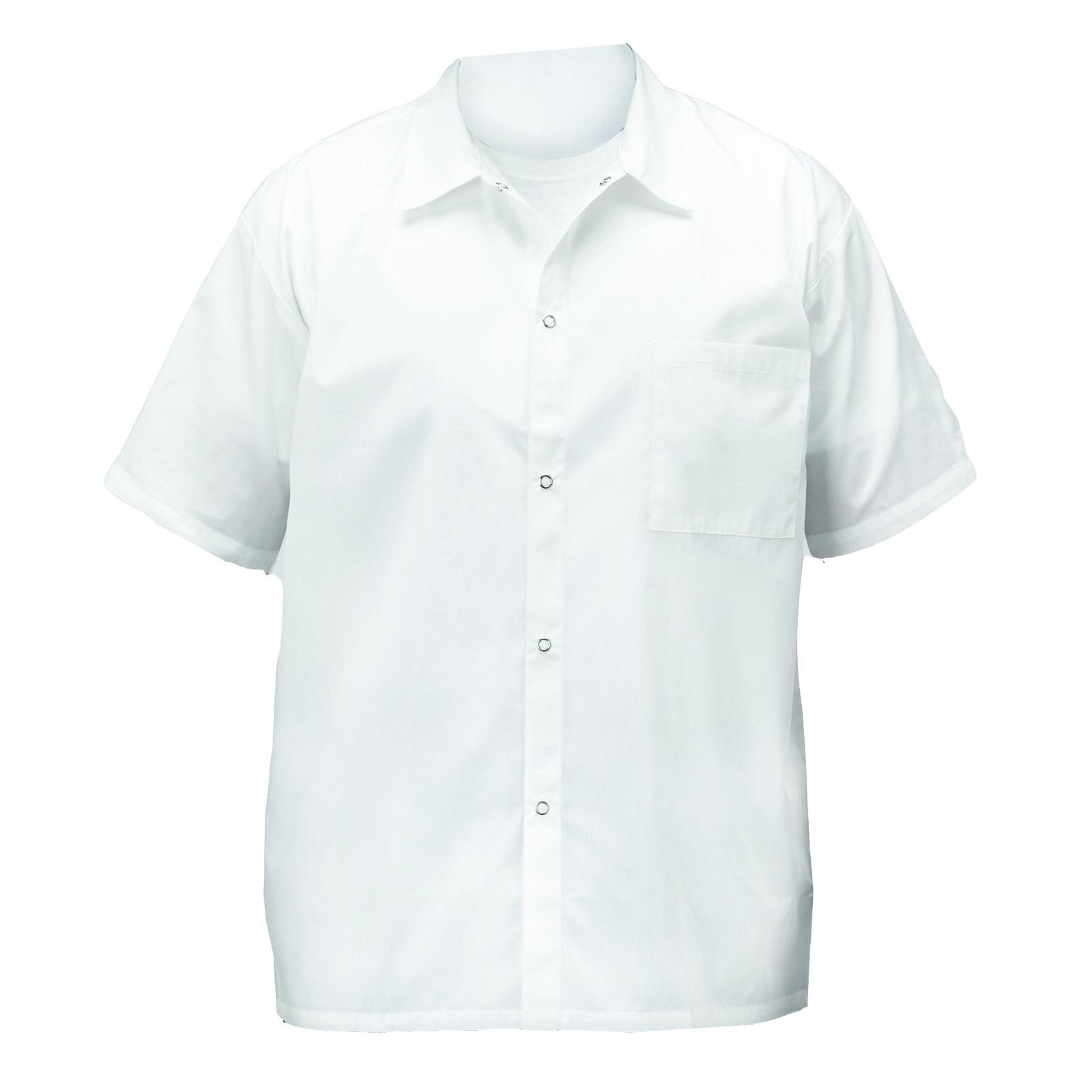 Winco UNF-1WS cook's shirt