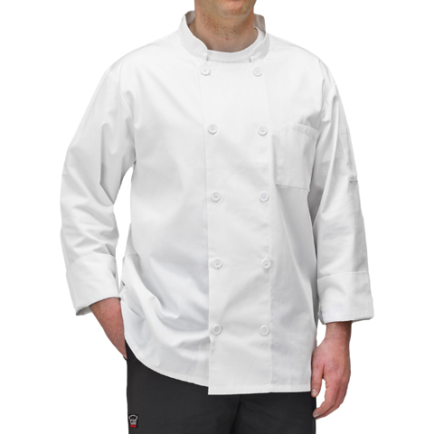 Winco UNF-5WL chef's coat