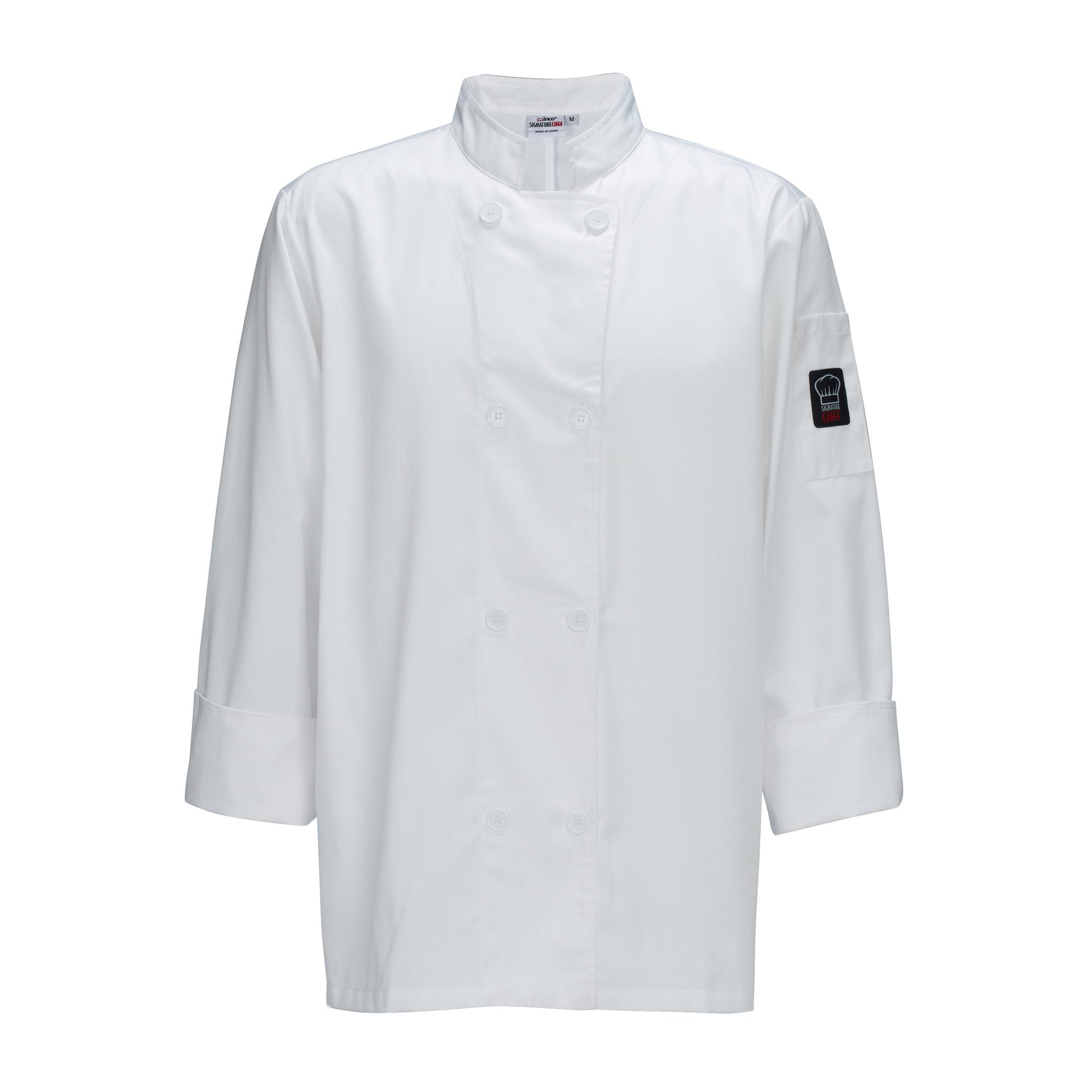 Winco UNF-6W3XL chef's coat