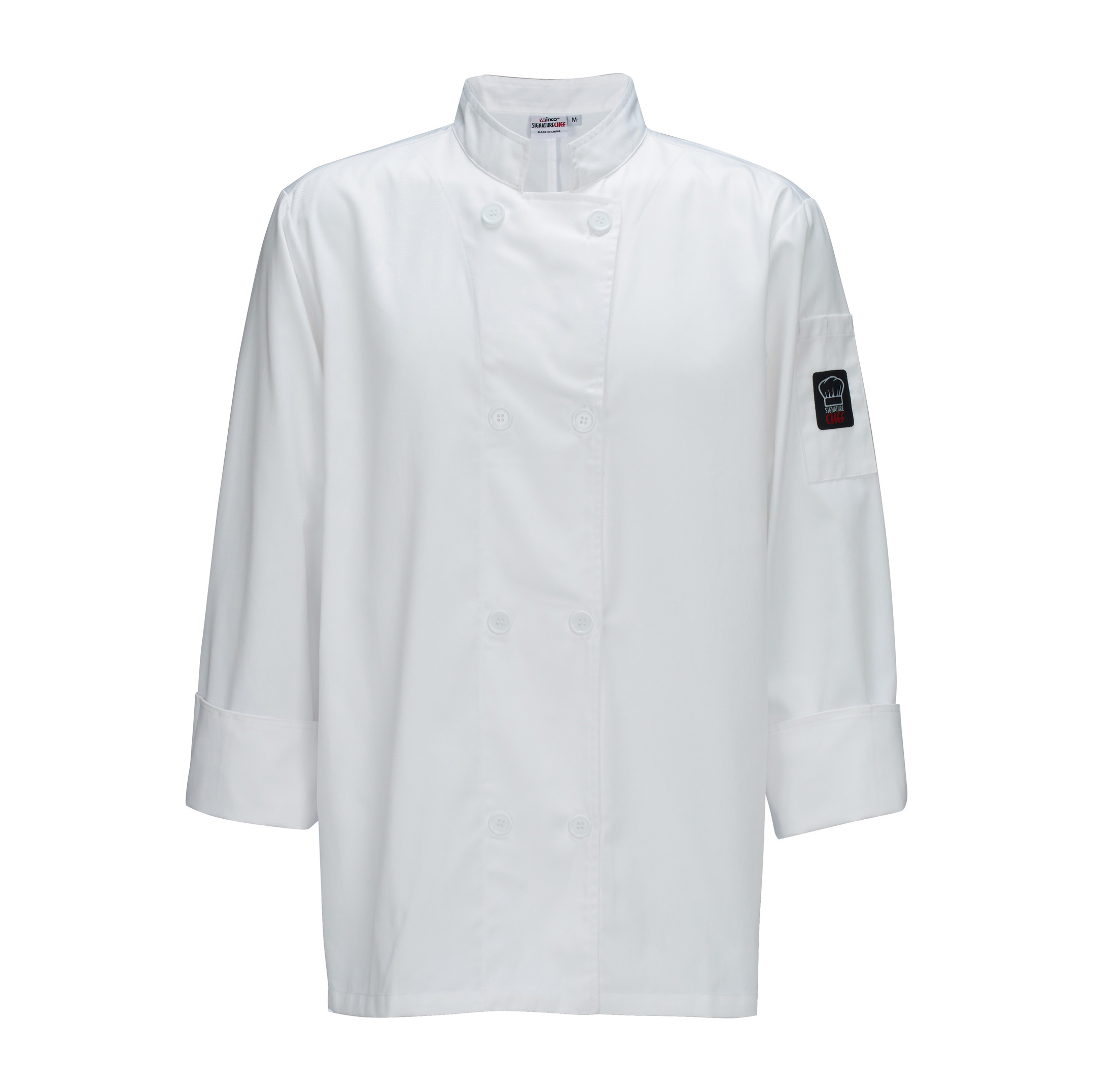 Winco UNF-6W4XL chef's coat