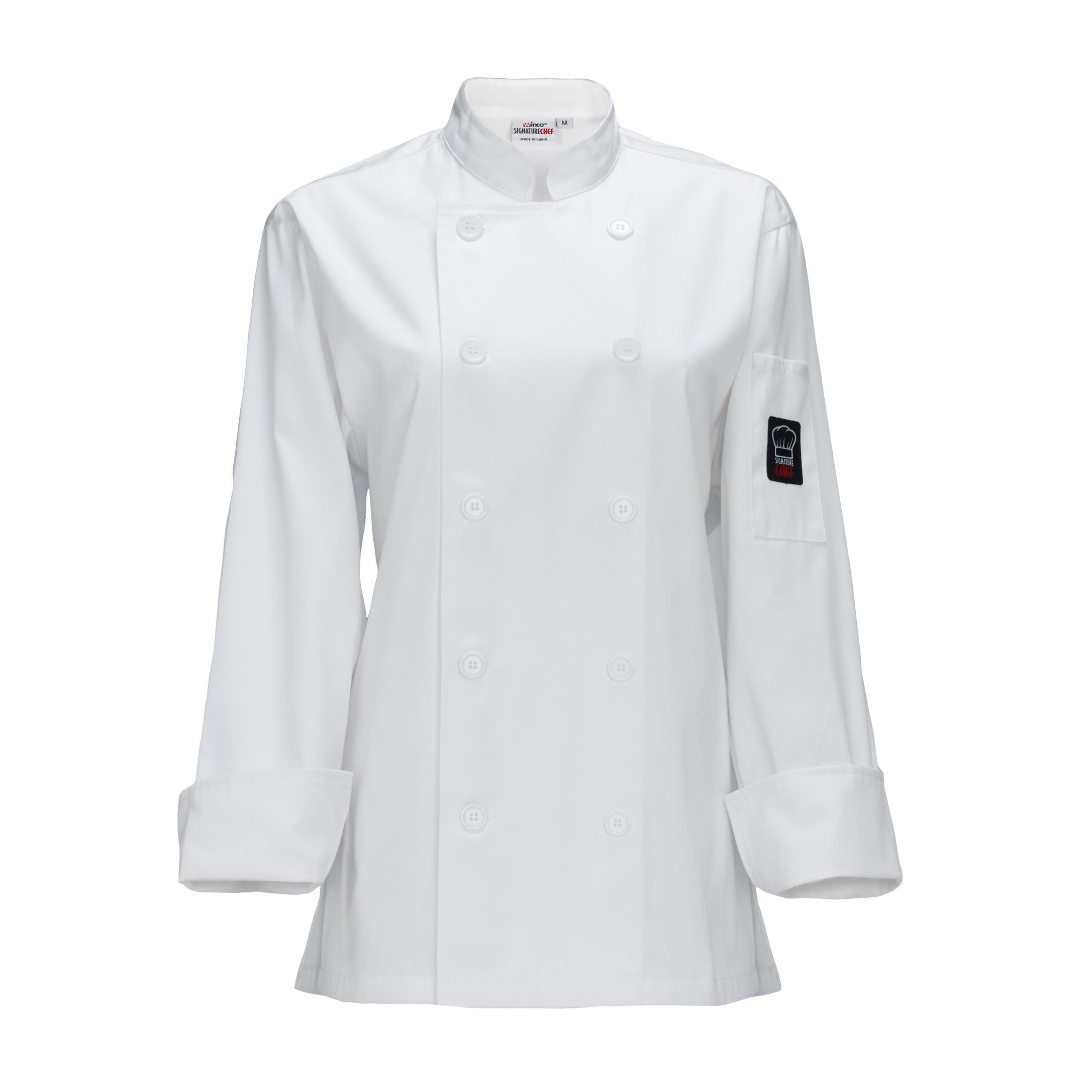 Winco UNF-7WL chef's coat
