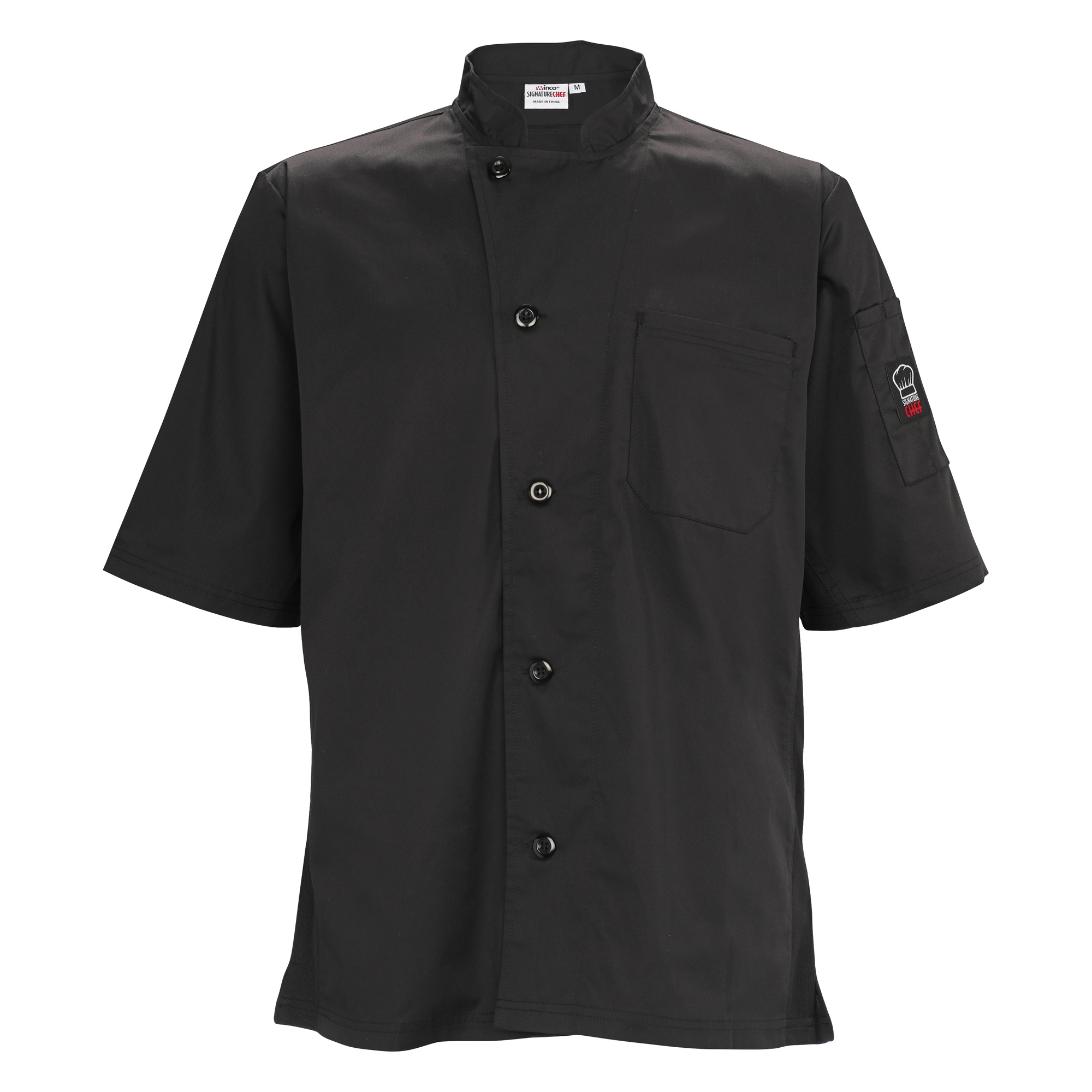 Winco UNF-9KL cook's shirt