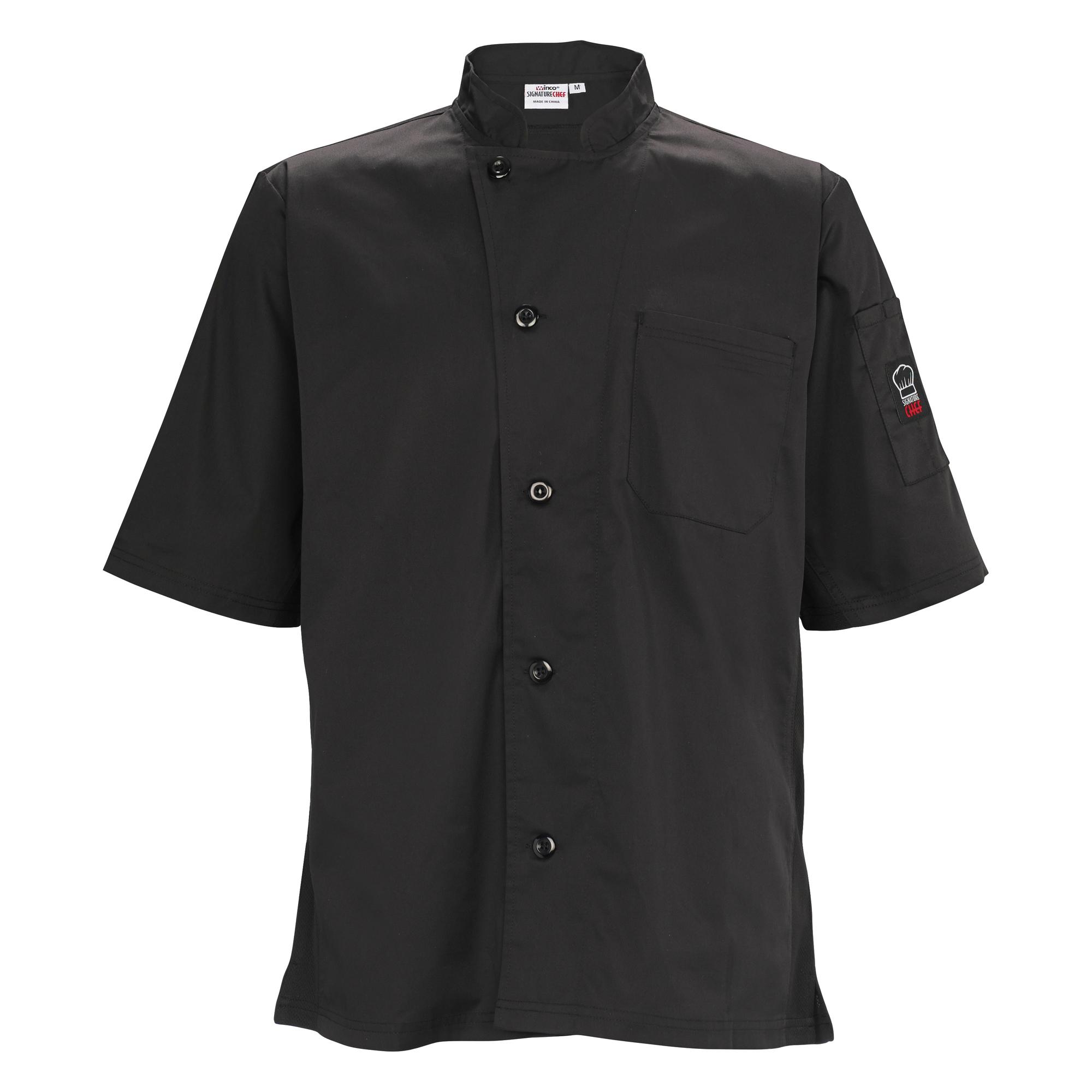 Winco UNF-9KM cook's shirt