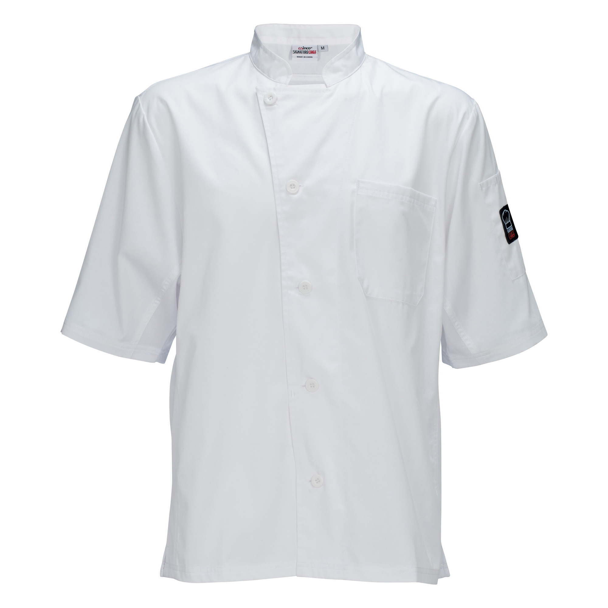 Winco UNF-9WS cook's shirt