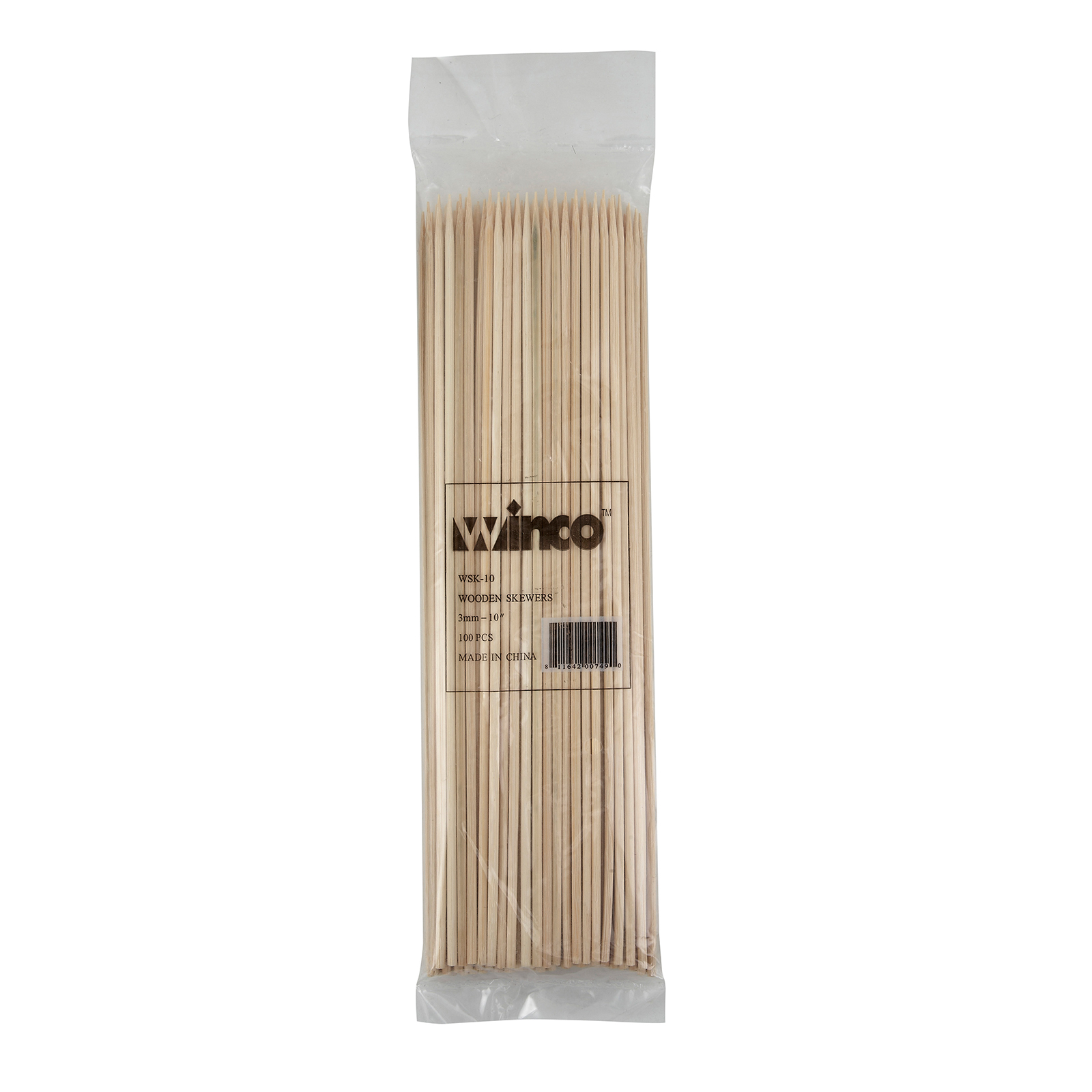 Winco WSK-10 skewers, wood