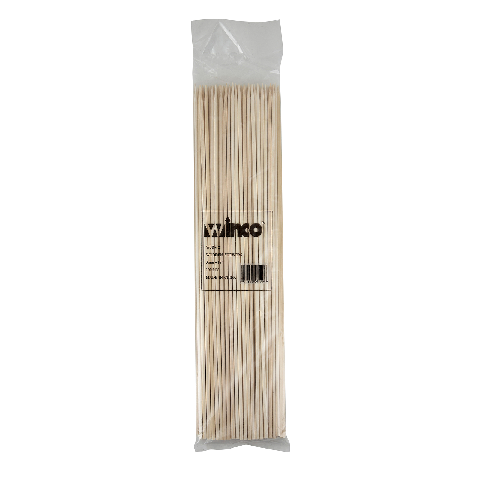Winco WSK-12 skewers, wood