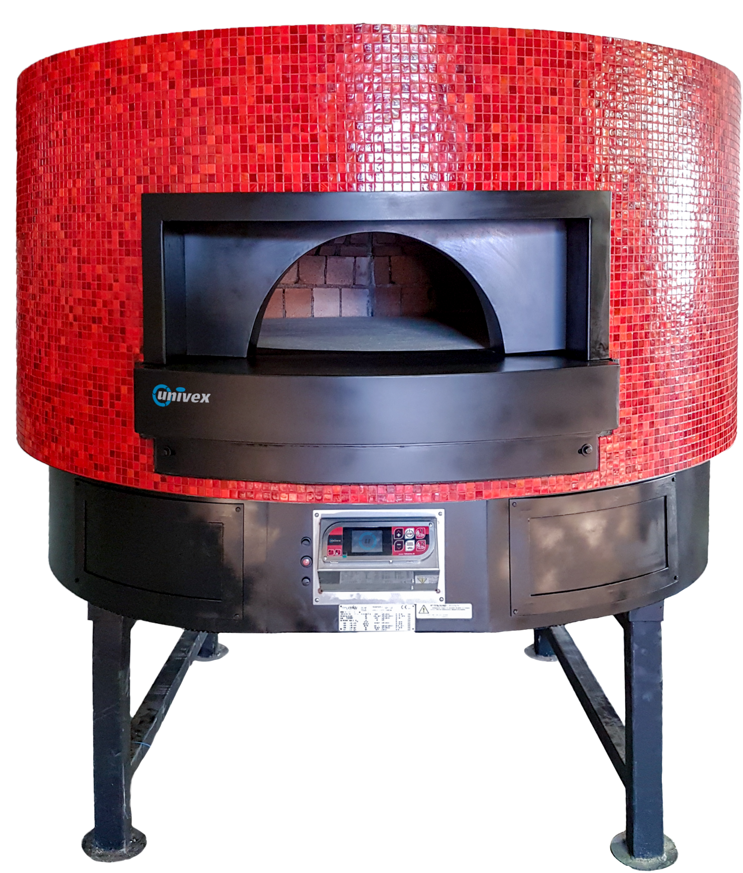 Univex DOME59FT- Flat Top stone hearth rotating pizza oven
